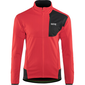GORE WEAR C5 Gore Windstopper Thermo Trail Jacket Herre red/black